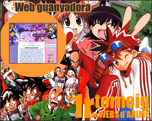 Winning Web of: 1r Match of Webs of Anime in Catalan.